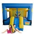 Yard una diapositiva casa de brinco inflable trampolín para uso residencial al aire libre juego de la fiesta de cumpleaños
