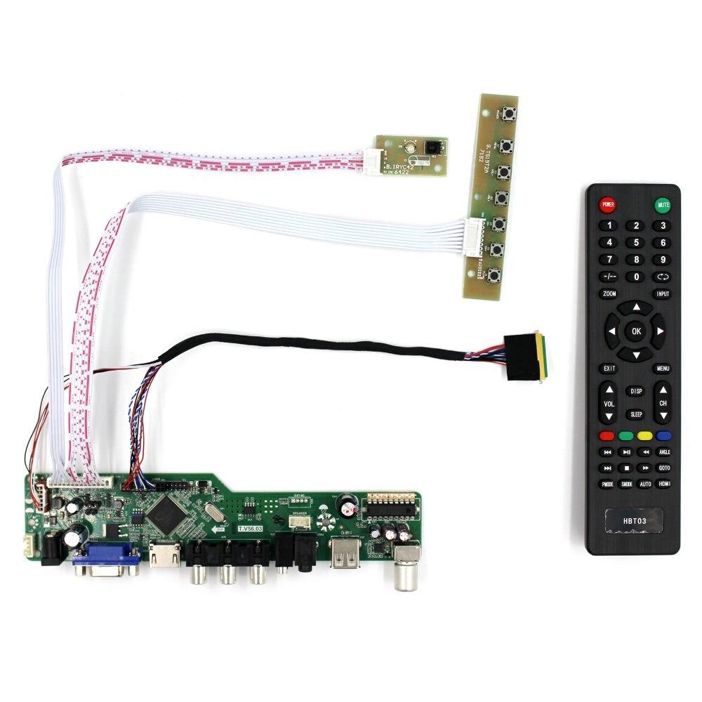 """Carte contrôleur TV HDMI VGA AV USB AUDIO LCD pour 14 """"15.6"""" B140XW01 B156XW02 LP156WH2 B156XW04 B156XTN02.1 1366x768 écran LCD-in Pièces de rechange et accessoires from Electronique    1"""