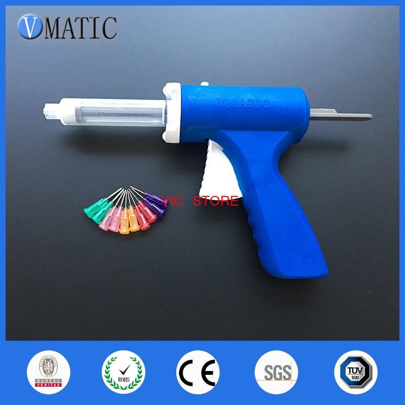 Nouveau 10 ML manuel seringue pistolet unique liquide pistolet à colle 10CC Commune 1 PCS + 10CC cônes 1 PCS + distribution Conseils