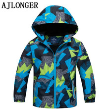 AJLONGER New Children Boys Spring Autumn Casual Sports Jacket Windproof 4-12 Year Old Boy Coats Kid Clothes