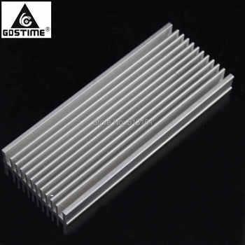 цена на 10pcs/lot 120x50x12mm Aluminum Heat Sink Radiator Heatsink for IC LED Electronic Heat Dissipation