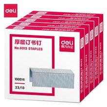 Плотные скобы deli 23/13 1000 шт серебристые металлические для