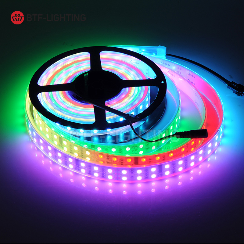 Wholesale TM1812 Led Pixle Digital strip 1Row/2Row/3Row kit set addressable SMD RGB 5050 IP67;waterproof DC12V 5m RF Controller auxmart triple row led chips 12 led