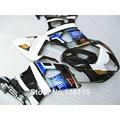 Moldeo por Inyección de ABS motocicleta kit del carenado para SUZUKI GSXR1000 K3 K4 2003 2004 azul blanco negro carenados GSXR 1000 03 04 AP69