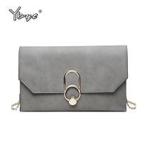 YBYT Brand 2017 Casual PU Leather Women Satchel Envelope Clutch Evening Bag Ladies Shopping Purse Female