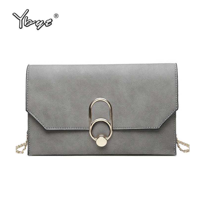YBYT brand 2018 casual PU leather women satchel envelope clutch evening bag ladies shopping purse female shoulder crossbody bags