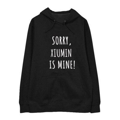 New kpop EXO The Same Around Korean Version Hoodie Sweatershirt Round Neck Pullover Men and Women Hoody with Hat