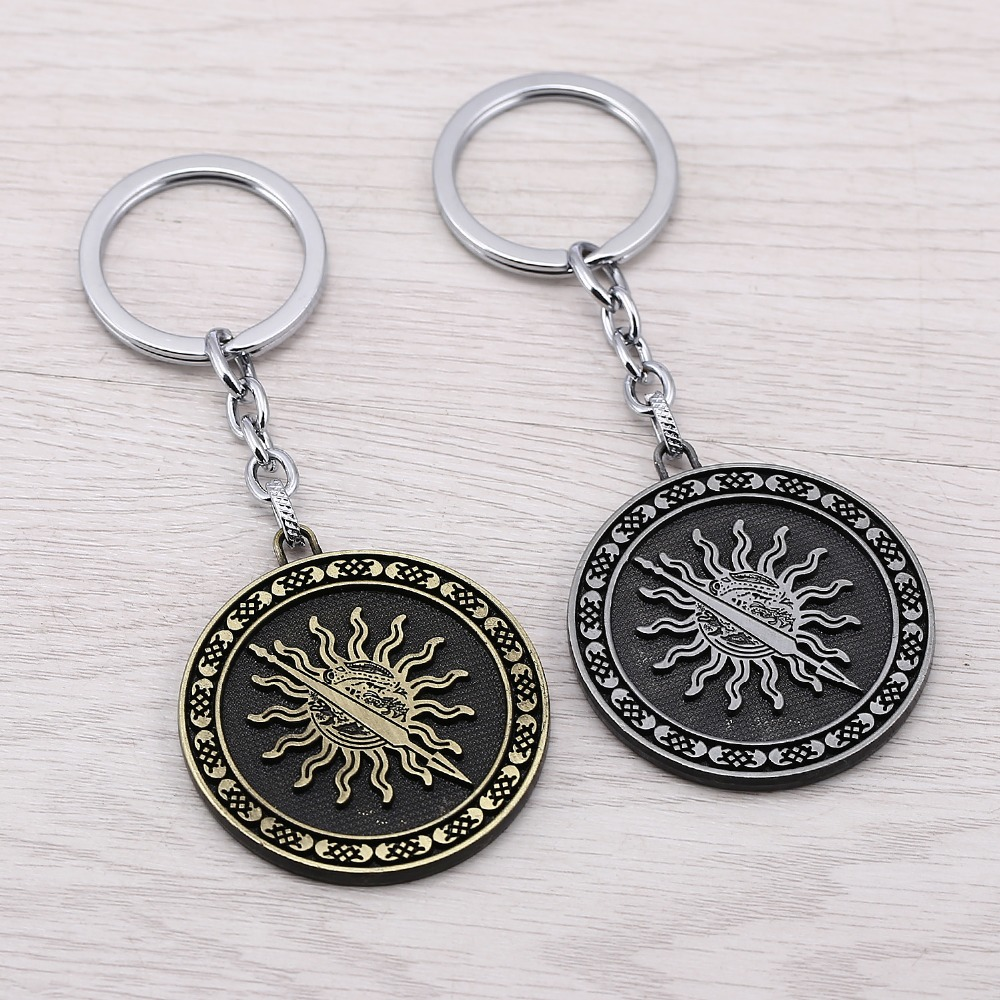 J Store Game of thrones House Martell Keychains 2 Colors Song Of Ice And Fire Sun Model Key Chain Chaveiro porte clef JJ11935