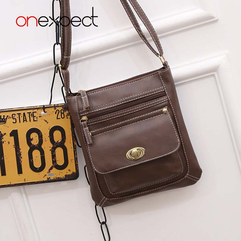 524c05edfa2 onexpect 2017 Women Leather Handbags Famous Brand Women Small Messenger Bags  Female Crossbody Shoulder Bags Clutch