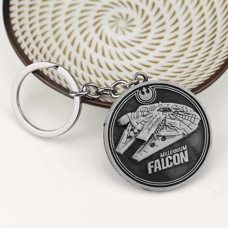 Filme Star Wars Nave Espacial Chave Titular Cadeias de Moda Do Metal Do Vintage Moedas Millennium Falcon Firefly Serenity Navios de Guerra Do Carro Chaveiros
