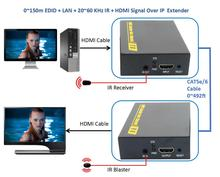 DT103A 492ft HDMI Splitter LAN Extender With IR Over TCP IP 1080P HDMI Ethernet Extensor 150m via CAT5 CAT5e CAT6 Rj45 Cable