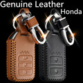 Fashion Men And Women's Car Genuine Leather Key Case cover KeyChain for Honda CRV FIT XRV CRIDER  VEZEL  JADE SPIRIOR 9 Accord