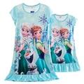 New Mother Daughter Pajamas Elsa Anna Snow White Rapunzel Princess Nightdress Family Matching Clothes Summer Milk Silk Sleepwear