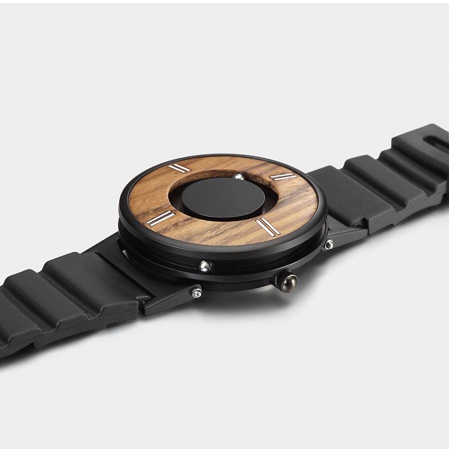 silicone pulseira aço quartzo único relógio pulso