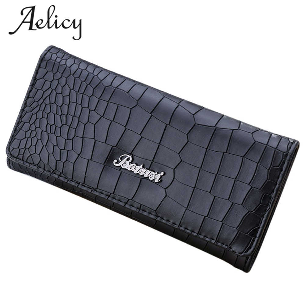 Aelicy Luxury Brand Desigher Female Purse Stone Pattern Zipper Long Leather Women Wallet Clutch Coin Bag For Card Holder Handbag 2016 brand designer women wallet bags pu leather clutch purse lady short handbag bag for pattern coin woman purse