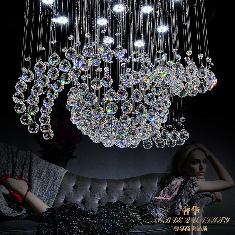 85-265 - v Led crystal LAMP kitchen dining & bar lighting suspension wire bedroom lamps and lanterns 85 265 v led crystal lamp the hotel lobby kitchen dining