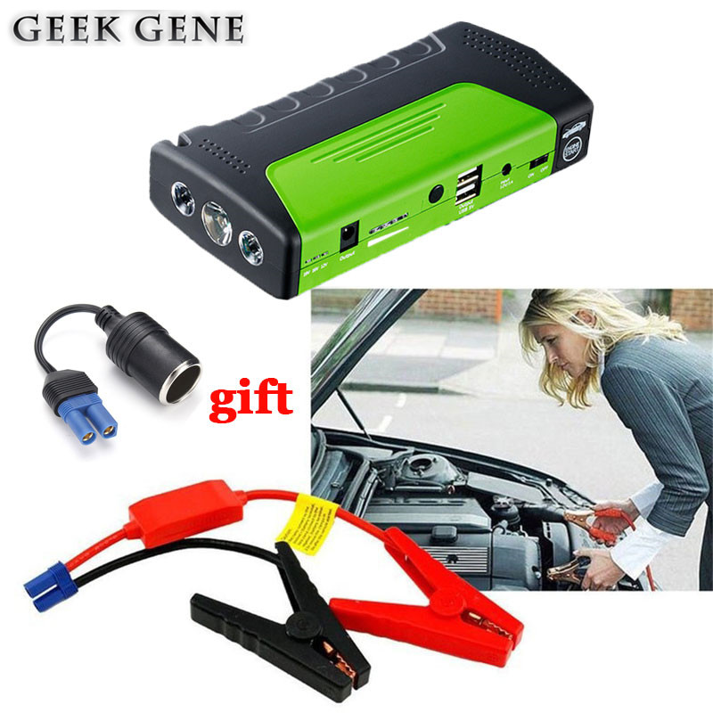 Mini Car Jump Starter Battery Emergency Power Bank 12V Car Charger for Battery Booster Buster Petrol Diesel Starting Device AUTO high quality 12v mini emergency car jump starter multi function power bank 9900mah battery charger booster cellphone petrol