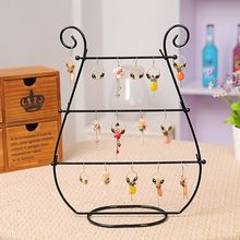 Jewelry Rack Display Stand Holder Metal Shelf Earrings Necklace Watch Storage Organizer Desk Simple Showcase Removable Decoratio