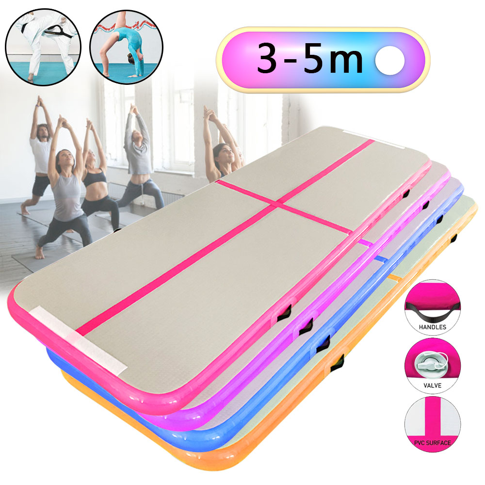 3/4/5m Air Track Gymnastics Tumbles Gymnastics Floor Inflatable Gymnastics Mat Air Gym Floor For Gym Training Mat Air Track