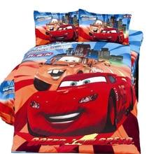 Молния Маккуин автомобили постельного белья детская Мальчики спальня декор твин размер постельное белье одеяло пододеяльники 3 шт. no filler