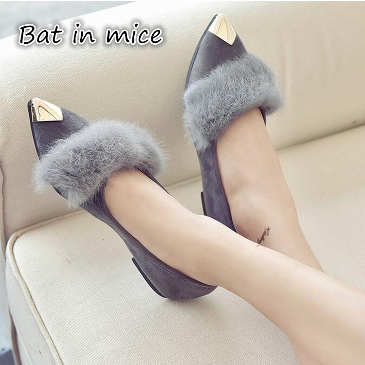 Women Shoes Flats 2017 Fashion Casual Shoes Woman Flat Pointed Toe shallow Beautiful Comfortable Good Quality Walking Loafers pu pointed toe flats with eyelet strap