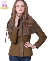 Chest 93 97cm M L New Arrival 2016 Woolen Winter Coat Women Vintage For Jacket Elegant