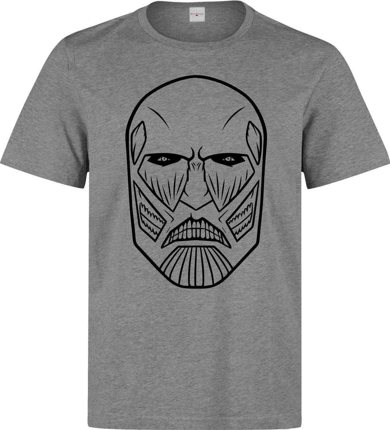 Attack On Titan Colossal Titan Minimal men's (woman's available) grey t shirt 2018 Summer T-Shirts For Men