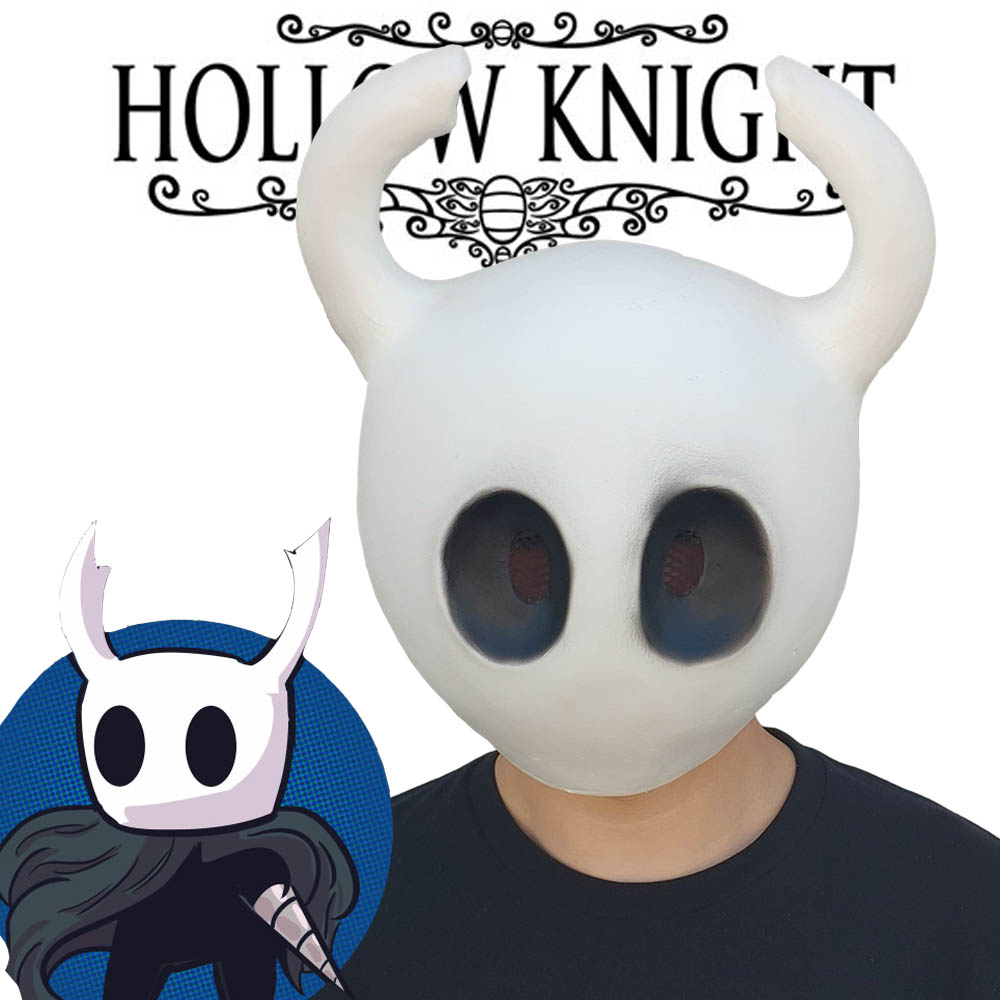 Hollow Knight Mask Cosplay Game Funny Latex Masks Helmet Halloween Party Props DropShipping