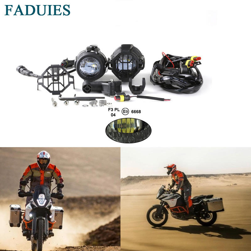 FADUIES Motorcycle 40W LED Auxiliary Fog Light Assemblies Safety Driving Lamp For KTM Adventure 1090, 1190, 1290, For R1200GS