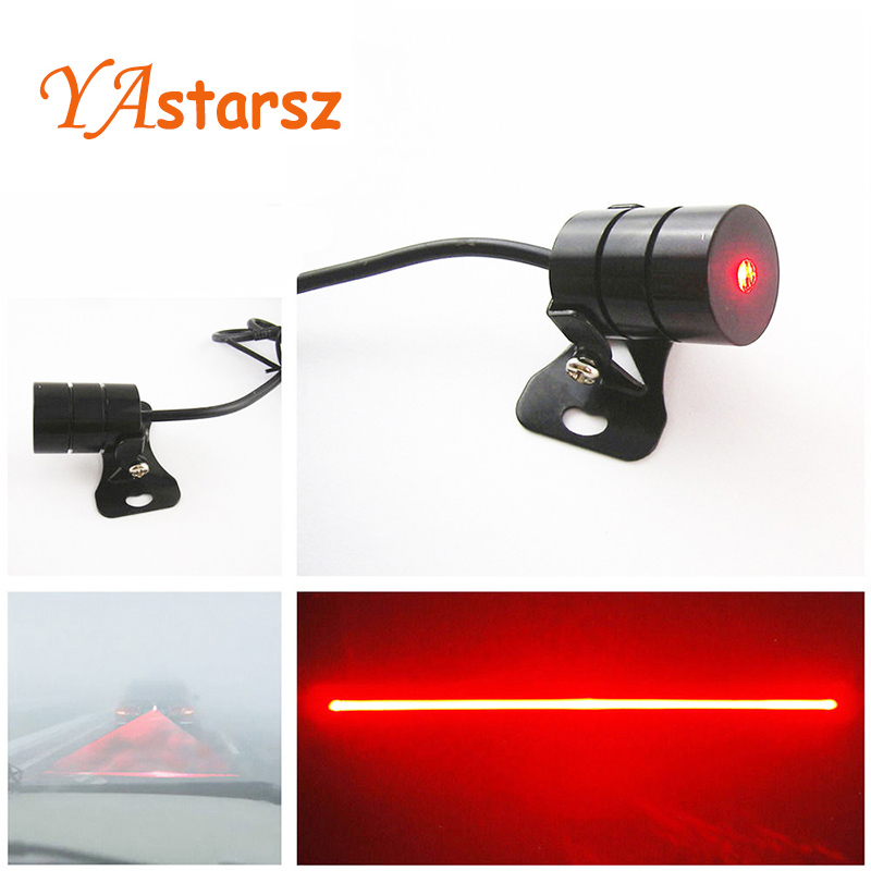 Car styling Car Laser Fog Light Rear Anti-Collision Driving Safety Signal Red Warning Lamp Brake Parking Light Auto Accessories for chevy chevrolet lacetti matiz automotive anti rear fog light vehicle collision warning safety laser fog lights