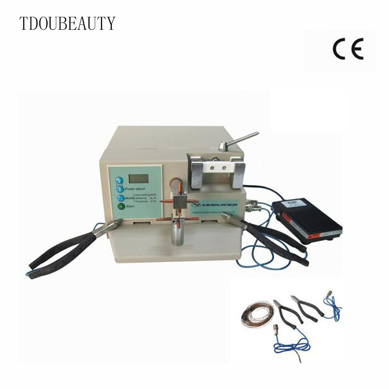 TDOUBEAUTY Professional Miniature Portable Dental Spot Welding Machine/Jewelry Welding Machine with CE/ISO HL-WDII thermocouple spot welding machine tl weld metal ball lotus wire feeder thermocouple welding