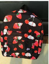 5 pieces new fashion female cute Fruit strawberry backpack preppy style schoolbag men and women travel shoulder bag