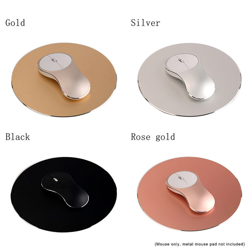 New Q8 Elegant Aluminum Alloy 2.4Ghz Wireless Mouse for Ice Fox USB Rechargeable Metal Mouse UFO Type Silent Fashion Cool Mouse