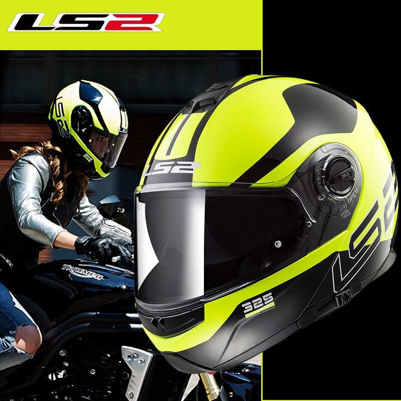 Casque de moto rcycle Original LS2 FF325 casque de moto rbike modulaire double écran solaire casque de course intégral casque de moto ECE