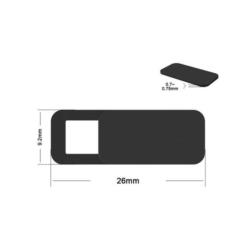 Antirr alta calidad WebCam cubierta imán de obturador Slider cubierta de plástico de la cámara para Web Laptop iPad PC tableta Mac privacidad