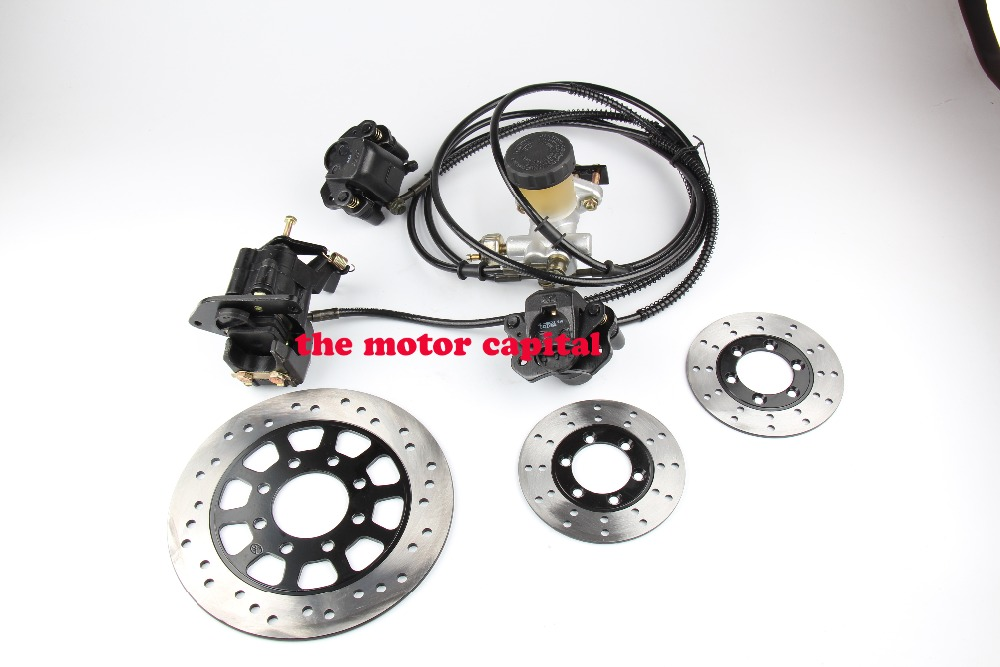 Go Kart Part  Hydraulic Disc Brake Calipers Pad System 125cc Quad Dirt Bike Dune Buggy Go Kart With Plate