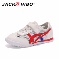 JACKSHIBO Brand Kids Shoes Spring Summer High Quality Breathable Deodorant Girls Boys Shoes Striped Mesh Shoes