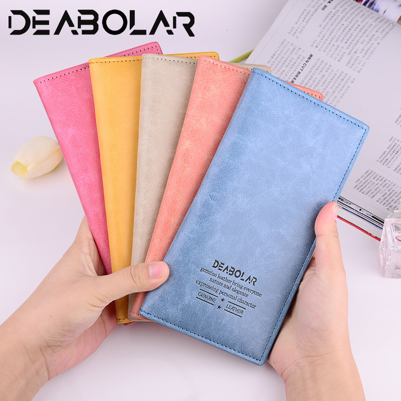 Fashion Women's Long Wallet Ultra-thin PU Leather Female Clutch Card Holders Multi-card Functional More Color Women Purses