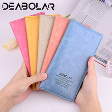 Fashion womens Long wallet Ultra-thin PU leather Female Clutch Card Holders multi-card functional More Color women purses