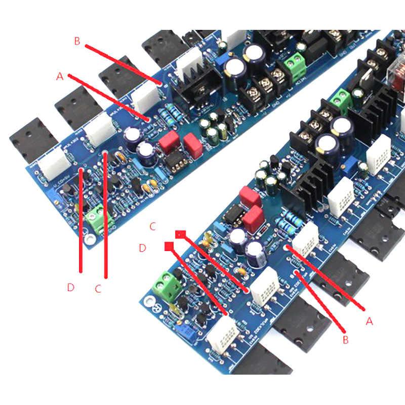 2 cái E405 Con Dấu Vàng Ống Bài Board Khuếch Đại Lớp Class A Điện Cao HIFI AMP Mô-đun Mạch 200 Wát MJ15024G/MJ15025G/2SA19