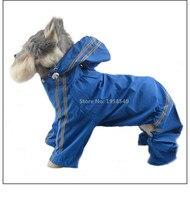 D110 3xl-7xl 4 bacaklar için büyük köpek Su Geçirmez yağmurluk PVC yağmurluk yansıtıcı pet emniyet yağmurluklar