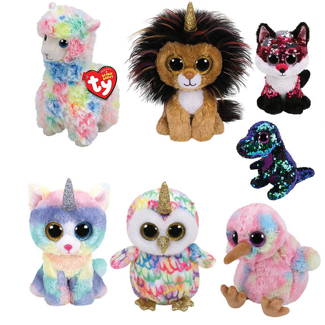 Ty Beanie Boos 15CM multicolored llama Owl Unicorn Cat Dog Plush Baby Plush  Stuffed Doll Toy Collectible Soft Toys Big Eyes ff9de6c7636