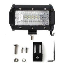 цена на 1pcs 72W LED Work Lights 12V Light Bar 5 Inch 4D LED Lamp for Auto Fog Lamps for Tractor Boat Car Truck SUV ATV Motorcycle