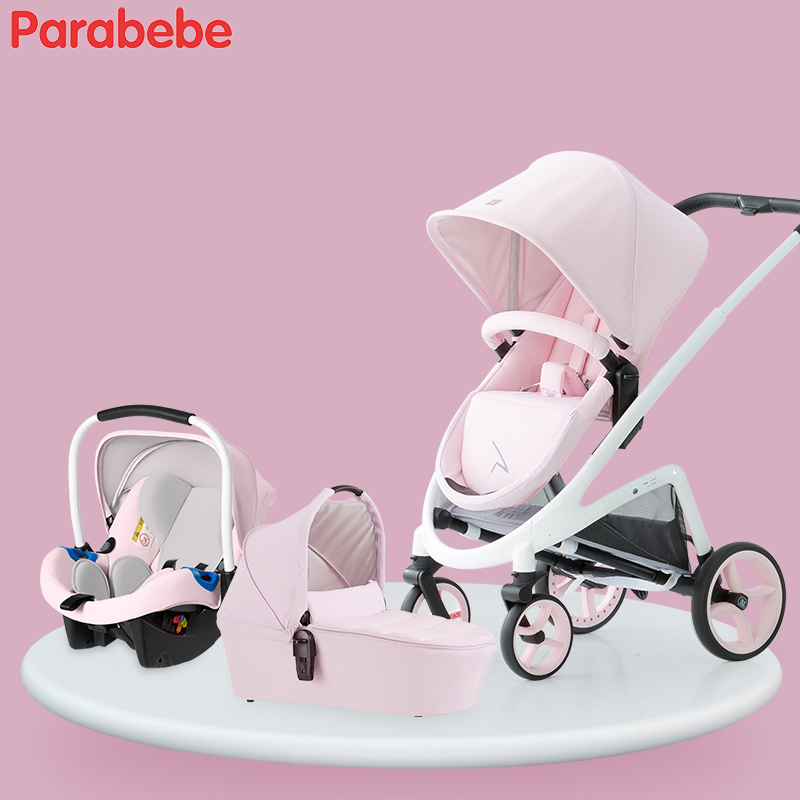 2018 Baby Stroller 3 in 1 Travel System Baby Carriage With Bassinet Baby Pram With Infan ...