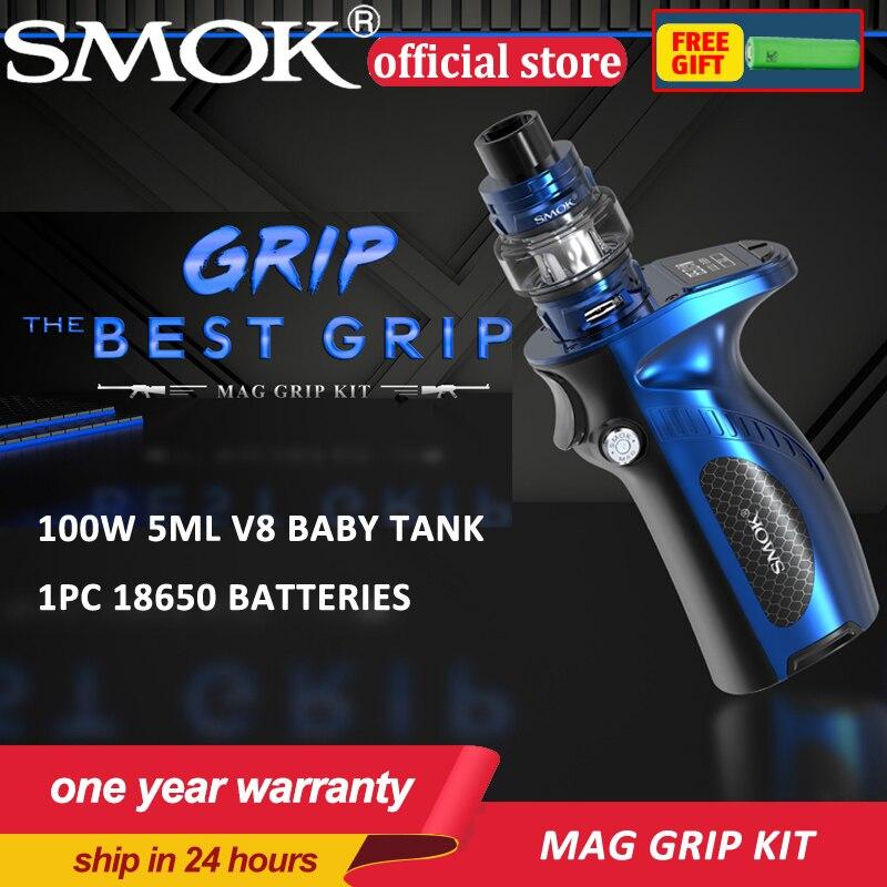 New Arrival Electronic Cigarettes Smok Mag Grip Kit TFV8 Baby V2 Tank Mag Box Mod Vaporizer