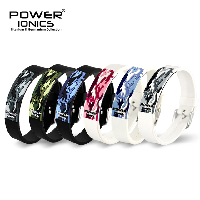 Power Ionics Titanium Ion F.I.R 3D Camo Bracelet Balance Wristband Energy PT048
