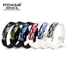 パワーオニクスチタンイオン fir 3D 迷彩ブレスレットバランスリストバンドエネルギー PT048