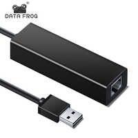 DATEN FROSCH USB Ethernet Adapter USB 2.0 10/100M Netzwerk Karte Für Nintend Schalter Windows 7/8/10 /XP Laptop TV Box Mac OS Adapter