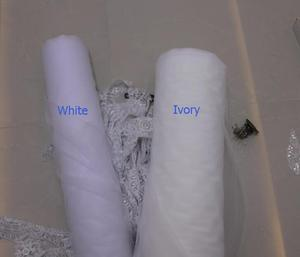 Image 2 - 1.4 Meters One Layer Lace Edge Short Wedding Veil With Comb New Wedding Accessories White Ivory Bridal Veil Voile De Mariee