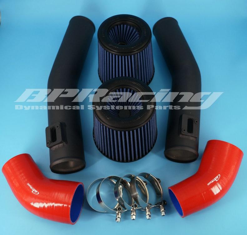 BEST POWER 76mm AIR INTAKE PIPE KIT FOR NISSAN GTR R35 black